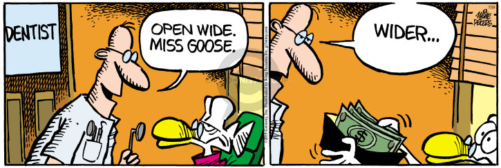 Comic Strip Mike Peters  Mother Goose and Grimm 2015-07-23 open