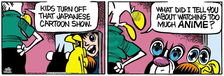 Comic Strip Mike Peters  Mother Goose and Grimm 2015-07-27 eye