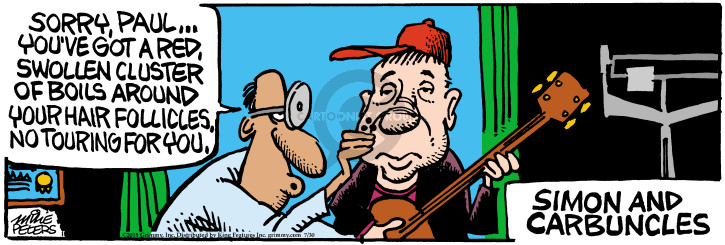 Cartoonist Mike Peters  Mother Goose and Grimm 2015-07-30 red