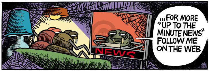 Comic Strip Mike Peters  Mother Goose and Grimm 2015-08-05 television news
