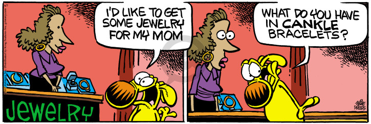 Cartoonist Mike Peters  Mother Goose and Grimm 2015-08-07 gift