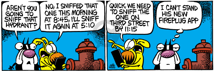 Comic Strip Mike Peters  Mother Goose and Grimm 2015-08-15 street