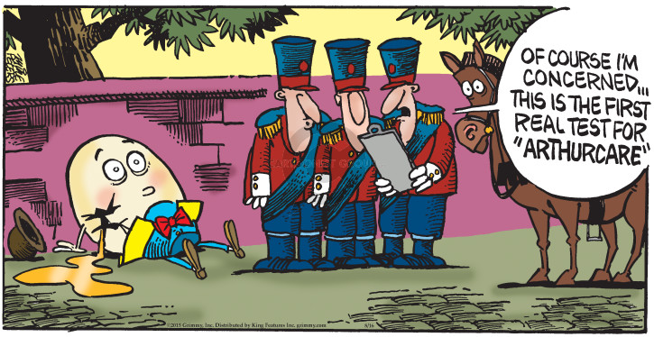 Cartoonist Mike Peters  Mother Goose and Grimm 2015-08-16 concern