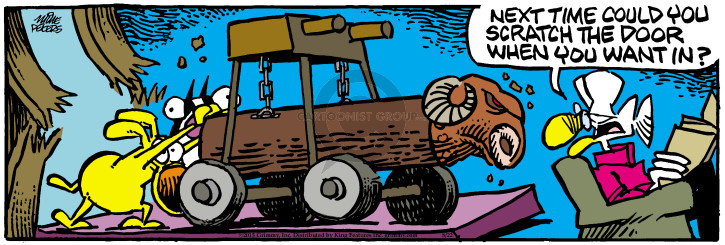 Comic Strip Mike Peters  Mother Goose and Grimm 2015-08-22 battering ram