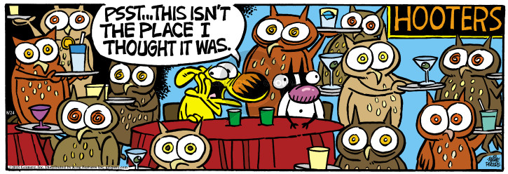 Comic Strip Mike Peters  Mother Goose and Grimm 2015-08-24 restaurant server