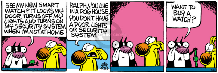 Comic Strip Mike Peters  Mother Goose and Grimm 2015-08-28 electronics