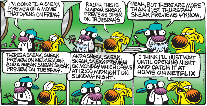 Comic Strip Mike Peters  Mother Goose and Grimm 2015-08-30 opening