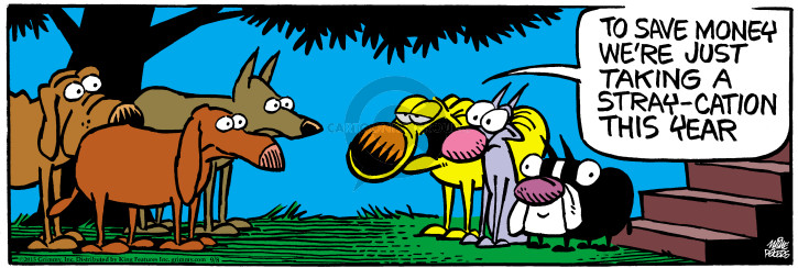 Comic Strip Mike Peters  Mother Goose and Grimm 2015-09-08 stray dog