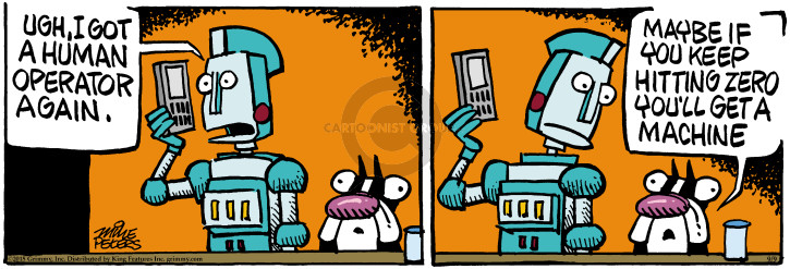Cartoonist Mike Peters  Mother Goose and Grimm 2015-09-09 technology