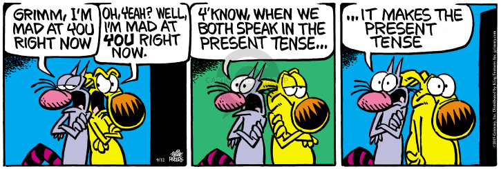 Cartoonist Mike Peters  Mother Goose and Grimm 2015-09-12 anxious