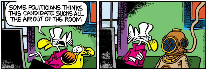 Cartoonist Mike Peters  Mother Goose and Grimm 2015-09-17 air