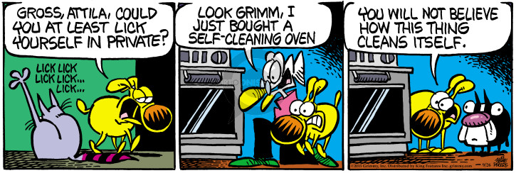 Comic Strip Mike Peters  Mother Goose and Grimm 2015-09-26 self-cleaning
