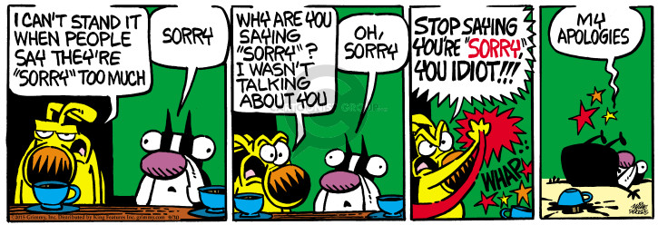 Cartoonist Mike Peters  Mother Goose and Grimm 2015-09-30 stand