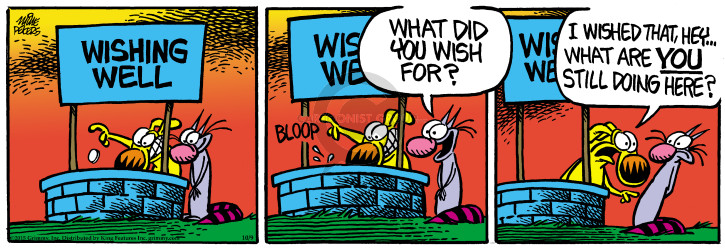 Comic Strip Mike Peters  Mother Goose and Grimm 2015-10-09 disappearance