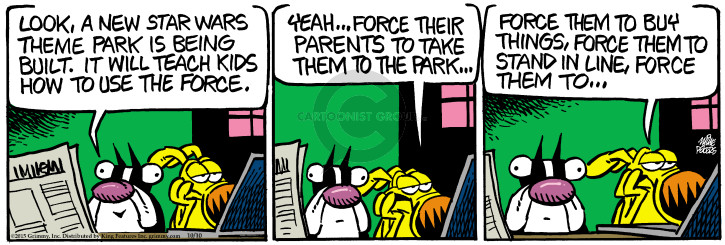 Comic Strip Mike Peters  Mother Goose and Grimm 2015-10-10 build