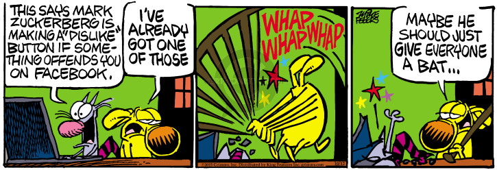 Comic Strip Mike Peters  Mother Goose and Grimm 2015-10-12 social network
