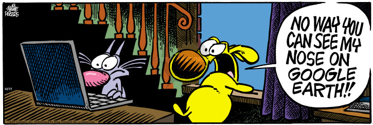 Cartoonist Mike Peters  Mother Goose and Grimm 2015-10-15 nose