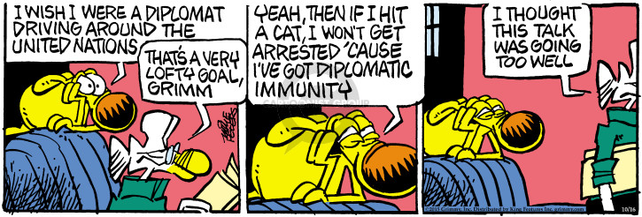 Comic Strip Mike Peters  Mother Goose and Grimm 2015-10-16 arrest