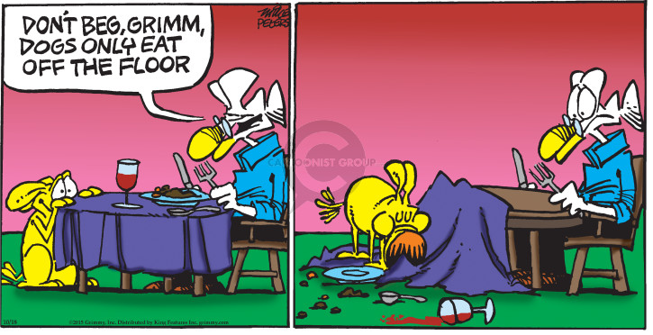 Cartoonist Mike Peters  Mother Goose and Grimm 2015-10-18 pull