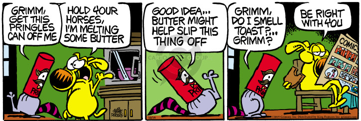 Cartoonist Mike Peters  Mother Goose and Grimm 2015-10-19 delay