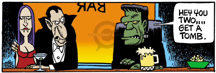 Comic Strip Mike Peters  Mother Goose and Grimm 2015-10-23 undead