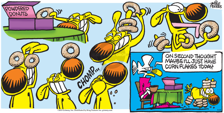 Comic Strip Mike Peters  Mother Goose and Grimm 2015-11-08 cereal
