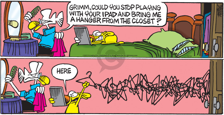Cartoonist Mike Peters  Mother Goose and Grimm 2015-11-15 computer