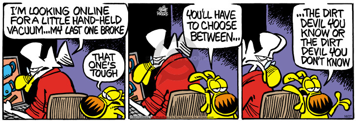 Comic Strip Mike Peters  Mother Goose and Grimm 2015-10-27 vacuum