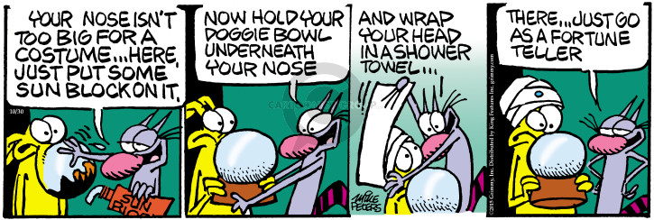 Comic Strip Mike Peters  Mother Goose and Grimm 2015-10-30 underneath