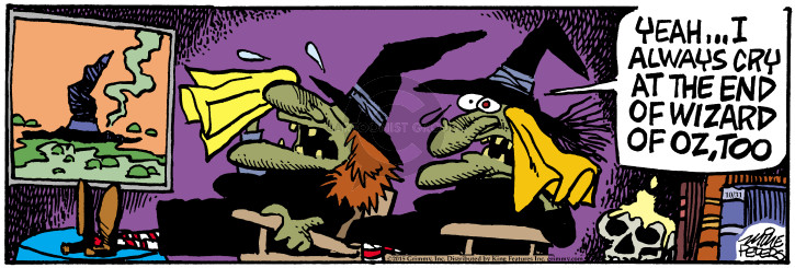 Cartoonist Mike Peters  Mother Goose and Grimm 2015-10-31 wizard