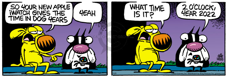 Comic Strip Mike Peters  Mother Goose and Grimm 2015-11-05 electronics