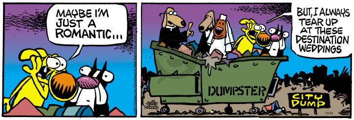 Comic Strip Mike Peters  Mother Goose and Grimm 2015-11-14 wedding