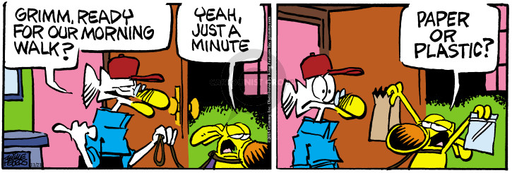 Comic Strip Mike Peters  Mother Goose and Grimm 2015-11-21 morning