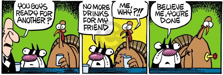 Comic Strip Mike Peters  Mother Goose and Grimm 2015-11-25 Thanksgiving
