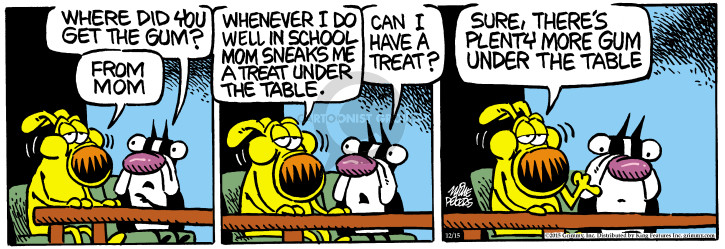 Comic Strip Mike Peters  Mother Goose and Grimm 2015-12-15 chew