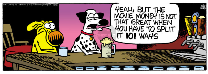 Cartoonist Mike Peters  Mother Goose and Grimm 2015-12-16 pay