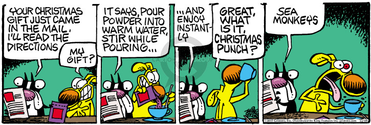 Comic Strip Mike Peters  Mother Goose and Grimm 2015-12-19 drinking water