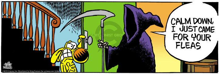Cartoonist Mike Peters  Mother Goose and Grimm 2015-12-30 grim reaper