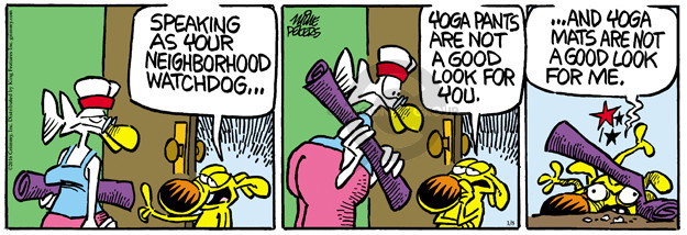 Cartoonist Mike Peters  Mother Goose and Grimm 2016-01-08 neighborhood