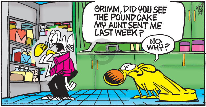 Comic Strip Mike Peters  Mother Goose and Grimm 2016-01-24 weight