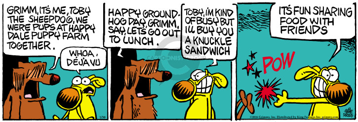 Comic Strip Mike Peters  Mother Goose and Grimm 2016-01-30 sandwich