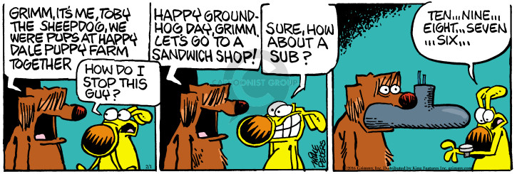 Comic Strip Mike Peters  Mother Goose and Grimm 2016-02-01 sandwich