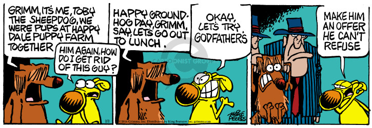 Comic Strip Mike Peters  Mother Goose and Grimm 2016-02-02 movie quote