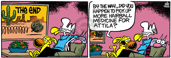 Comic Strip Mike Peters  Mother Goose and Grimm 2016-02-09 cat hair