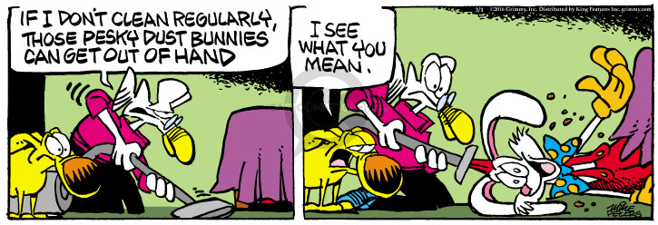 Comic Strip Mike Peters  Mother Goose and Grimm 2016-03-01 cleaning