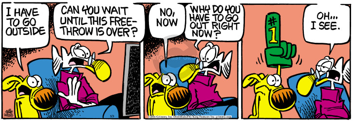 Comic Strip Mike Peters  Mother Goose and Grimm 2016-03-03 urgency