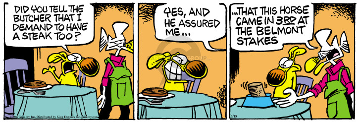 Cartoonist Mike Peters  Mother Goose and Grimm 2016-03-15 canned dog food