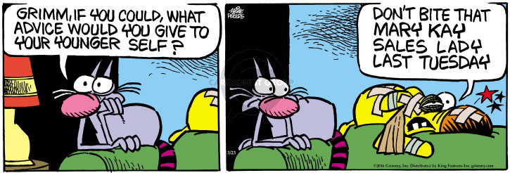 Comic Strip Mike Peters  Mother Goose and Grimm 2016-03-23 bite