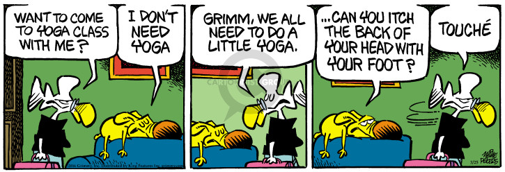 Cartoonist Mike Peters  Mother Goose and Grimm 2016-03-25 foot