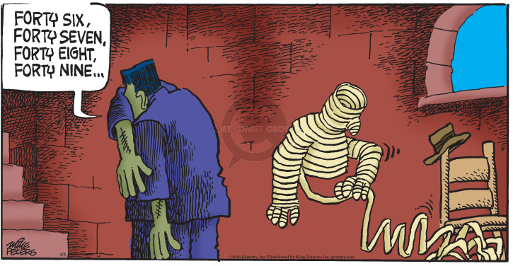 Cartoonist Mike Peters  Mother Goose and Grimm 2016-04-03 seek